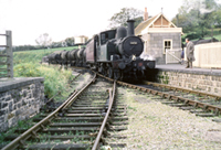 Vol 21: 1451 has just arrived at Hemyock on 27th October 1962 with one coach and empty milk tanks