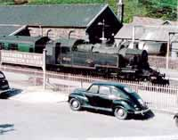 Vol 3: 41210 at Torrington, 15th June 1963 - Jowett Javelin in the foreground
