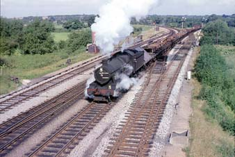 Vol 23: 6991 is hauling a southbound freight at Wolvercot Junction in September 1965.